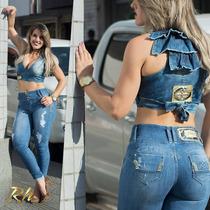Calça Rhero Jeans Clara Estilo Pit Bull Levanta Bumbum !!!