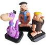 Bonecos Fred Flintstones , Barney Rubble E Dino