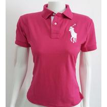 Camisa Blusa Polo Feminina Malha Piquet Varias Cores