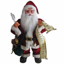 Papai Noel Musical Com Lista De Presentes 60cm
