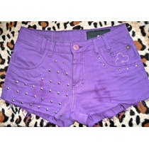 Shorts Jeans Customizado Spikes