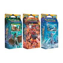 Pokémon 3 Decks Sol E Lua Decidueye, Incineroar, Primarina