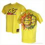 Camiseta Amarela G Valentino Rossi Moto Gp 46 Nova Sol Lua
