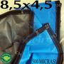 Super Lona 500 Micras 8,5x4,5 M Argolas Plástica Impermeável