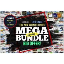 100 Business Flyers Bundle Editavel Panfletos De Negócios