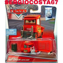 Disney Cars My Name Is Not Chuck With Cart Pit Mcqueen +300m