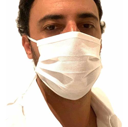 Máscara Descartável Tripla C/ Clipe Nasal Frete Grátis