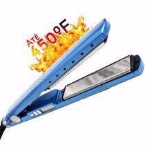 Prancha Ladylis Pro Nano Titanium 450° Rosa/azul
