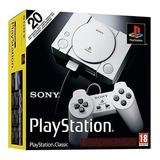 Playstation Classic Com 20 Jogos Na Memória, Novo E Lacrado!