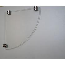 Prateleira Cantoneira Com Suporte Fenda Cromado - Vidro 4mm