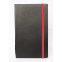 Caderno Tipo Moleskine, 128x210mm, Pautados, 196 Paginas