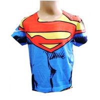 Camiseta De Super Herói Infantil Fantasia Super Homem 1 Ano
