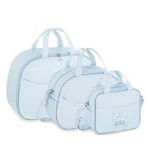 Kit Bolsa Maternidade Transporte Azul Fazendo Arte (3p)