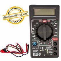Multímetro Digital Dt-830b Com Cabo De Multiteste Testador