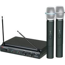 Microfone De Mão Sem Fio Duplo Pilha 2aa Kru302 #karsect
