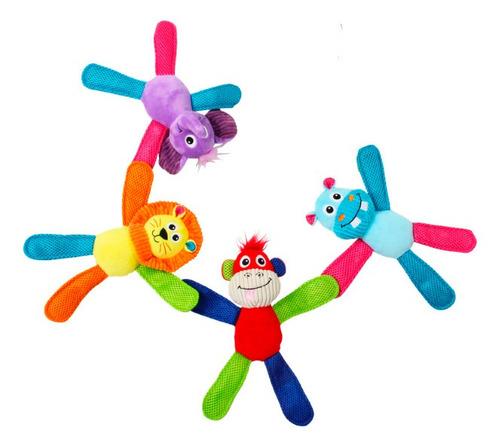 Kit C/ 4 Brinquedos De Pelúcia Apito Coleção Vivid Pawise
