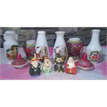 Coleção 4 Budas Miniatura 6 Vasos Chineses E Estante Madeira