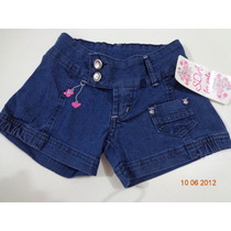 Short Jeans S.d.a For Girls 4 A 6 Anos Lindo