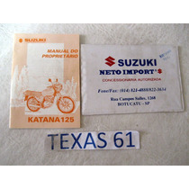 Manual Do Proprietario Da Moto Suzuki Katana 125 1996 / 1997