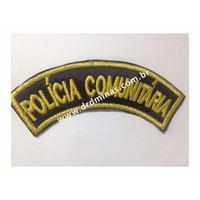Distintivo Bordado Policia Comunitária - U