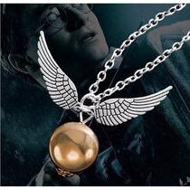 Colar Pomo De Ouro - Harry Potter Folheado - Pronta Entrega