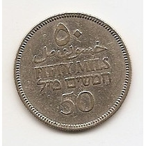 Palestina, Moeda De 50 Mils, 1935, Prata, Mbc - Antiga -