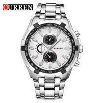 Relógio Masculino Importado Prata, Cromado Barato Promoção