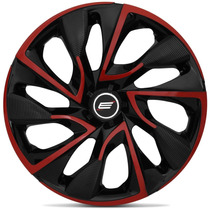 Calota Aro 14 Esportiva Ds4 Red Universal Fiat Ford Gm Vw