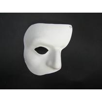 Máscara Fantasma Da Ópera Em Eva Branca Veneziana