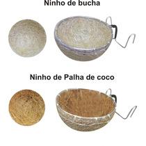 10 Ninhos De Estopa Com Bucha Ou Fibra De Coco P/ Curio Etc.