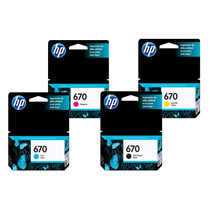 Kit 4 Cartucho Hp 670 Original - 4 Cores - C/ Nf