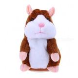 Falando Hamster Brinquedo De Pelúcia Presente Kids-marrom