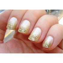 Glitter Ultra Fininho Pra Misturar Gel Uv 2g Cor Dourado
