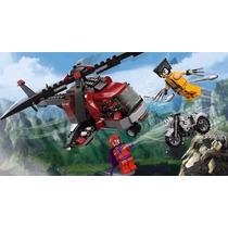 Decool Lego Marvel Wolverine Magneto Deadpool Moto