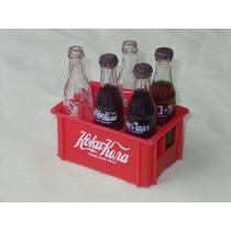 Miniatura Garrafinha Vidro Garrafa Coca-cola Antigo
