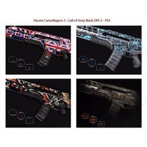 Kit 5: Camuflagens Call Of Duty Black Ops 2 - Psn Codigo Ps3