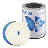 100 Dvd-r Elgin Printable 16x  4.7gb (nao Grava Jogos)