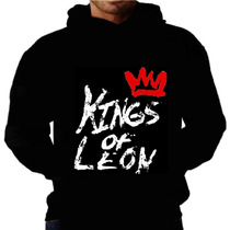 Blusa Moletom Kings Of Leon Capuz Bolso Banda Moleton Rock