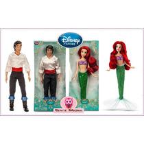 Disney Store Princesa Ariel Pequena Sereia E Principe Eric