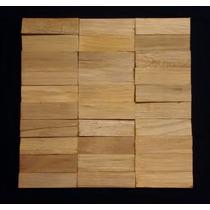 Mosaico Madeira Mista Lasc - Pastilhas - 30cm X 30cm