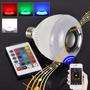 Lâmpada Led Music Bluetooth Rgb 6w Controle Remoto