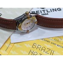 Relógio Breitling Feminino Aço E Ouro
