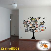 Adesivo Parede Árvore Genealógica Família Foto 10x15 Will001