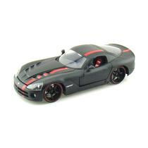Dodge Viper Srt10 2008 1:24 Jada Toys Preto Fosco