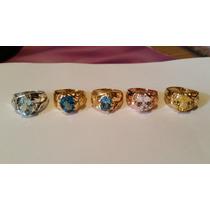 Lindos Anéis De Prata De Topazios, Kunzitas,águas Marinhas