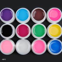 12 Cores Gel Acrilico P/ Reconstrutor Unhas Tips Artistica