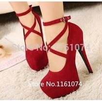 Lindo Sapato Feminino Salto Alto Importado - Frete Grátis