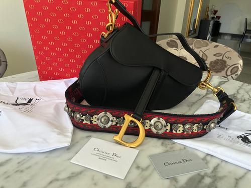 7663a0b4a47 Bolsa Dior Saddle Original 100% Autentica Alça Extra