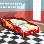 Mini Cama Para Crianças Com Colchão 150x70cm Vermelha ver