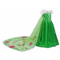 Vestido Fantasia Rainha Elsa Fever Luxo Festa Novo